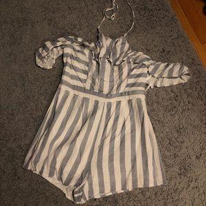 Size 8 striped Ally romper